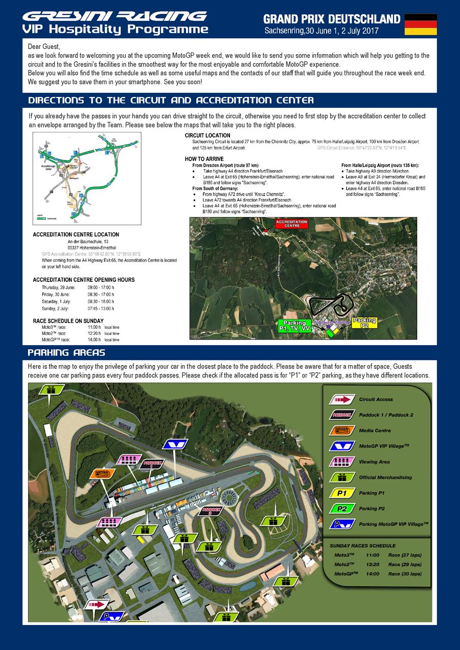 » Info Gare « - Gresini Racing