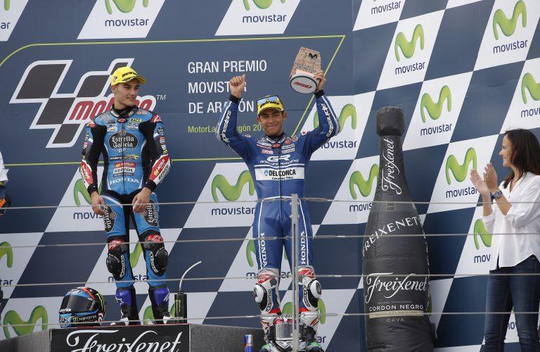 Terzo e quarto posto per Bastianini e 'Diggia' in un'emozionante volata finale ad Aragon