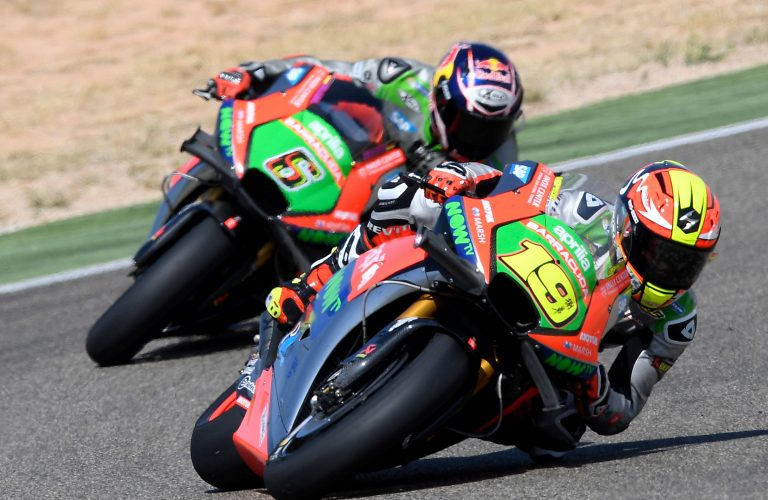 Good race and excellent result for Aprilia at Aragon: double top 10 for Bautista and Bradl's RS-GP machines