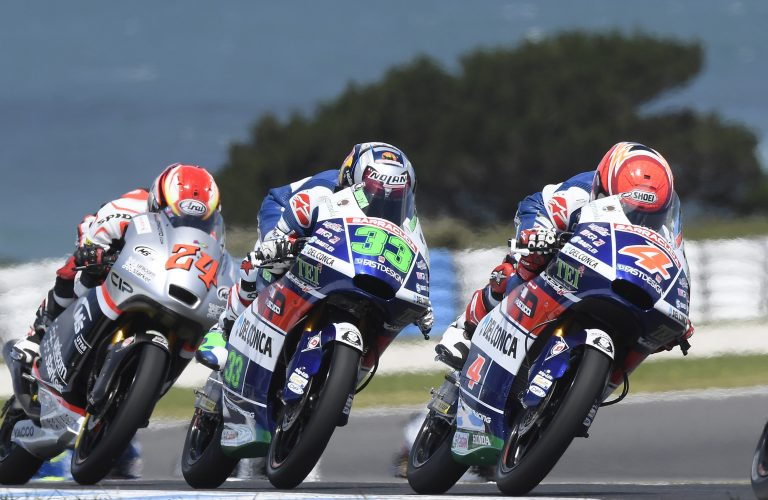 No luck for Gresini Racing Team Moto3 in Australia. Bastianini cracks a vertebra