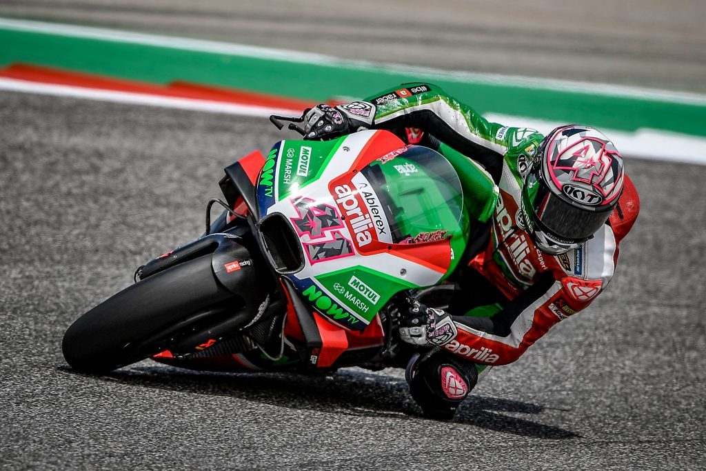 APRILIA DOES WELL STRAIGHT AWAY ON THE FIRST DAY IN TEXAS - Gresini Racing