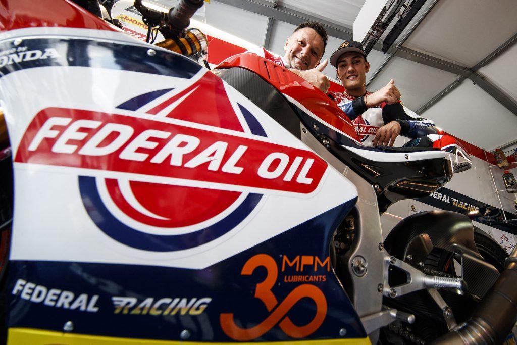 #AUSTRIANGP: TEAM GRESINI MOTO2 CELEBRATES 30 YEARS OF FEDERAL OIL   - Gresini Racing