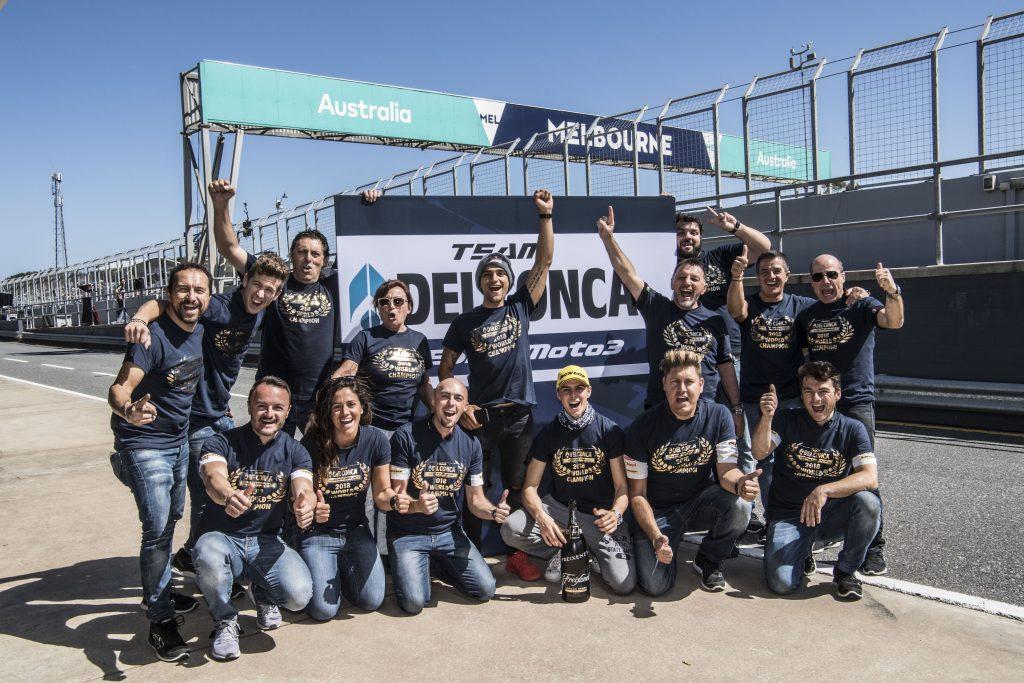 IL TEAM DEL CONCA GRESINI MOTO3 SI LAUREA CAMPIONE DEL MONDO IN AUSTRALIA   - Gresini Racing