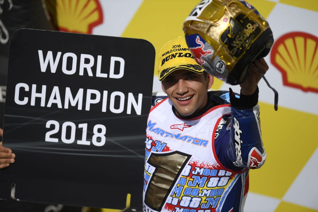 JORGE MARTIN BECOMES #MART1NATOR AFTER SEALING THE MOTO3 WORLD TITLE IN SEPANG    - Gresini Racing