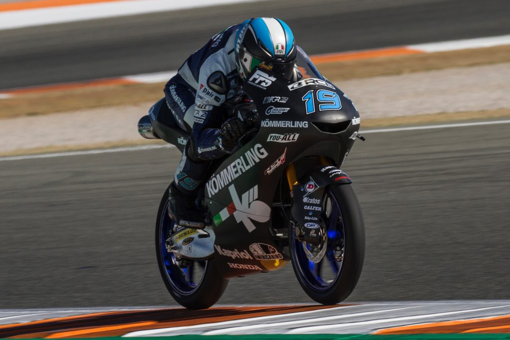 TEAM KÖMMERLING GRESINI MOTO3 COMPLETES FIRST TEST OF 2019 AT VALENCIA - Gresini Racing