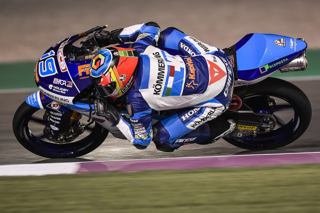 QATARGP: FOURTH ROW FOR RODRIGO AS ROSSI CRASHES OUT    - Gresini Racing