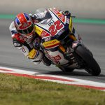 A CRASH HALTS LOWES'S PROGRESSION AT BARCELONA