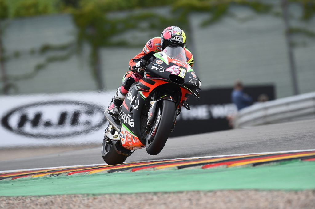 FIFTH AND SIXTH ROW FOR THE APRILIAS IN GERMANY - Gresini Racing