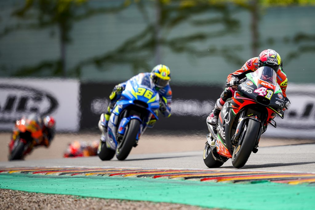 SATISFACTION AND REGRETS FOR APRILIA IN THE GERMAN RACE - Gresini Racing