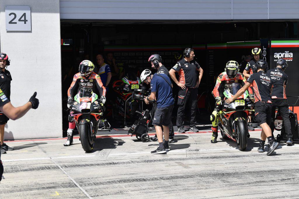 QUALIFICHE SOTTO LE ATTESE IN AUSTRIA, MA LA APRILIA RS-GP È EFFICACE SULLA DISTANZA DI GARA - Gresini Racing