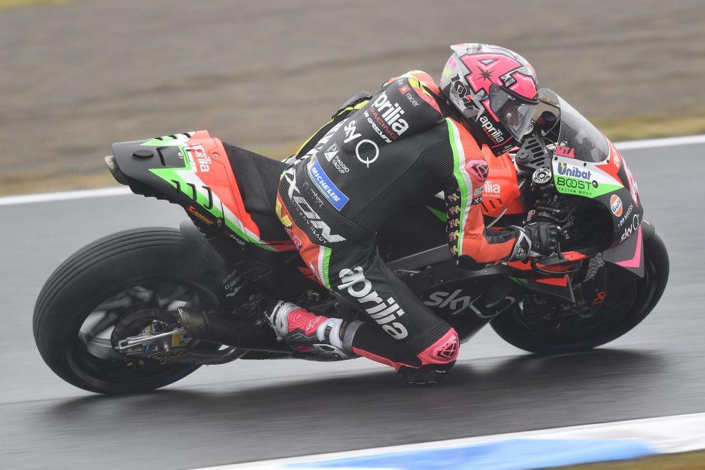 ALEIX ESPARGARÒ PORTA LA APRILIA RS-GP IN TERZA FILA A MOTEGI - Gresini Racing