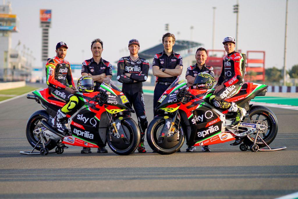 UNA RS-GP TOTALMENTE RINNOVATA LANCIA APRILIA VERSO LA NUOVA STAGIONE IN MOTOGP PER UNA SFIDA TUTTA ITALIANA - Gresini Racing