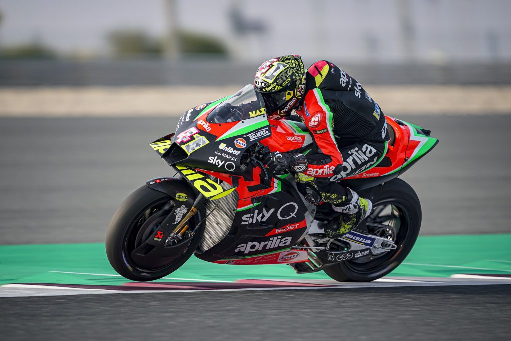 THE BRAND NEW 2020 APRILIA RS-GP CONFIRMS ITS PERFORMANCE IN QATAR - Gresini Racing