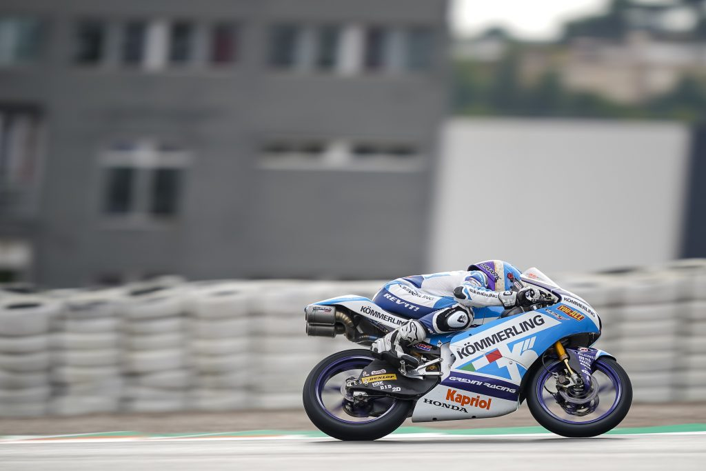 RAIN AND CRASHES RELEGATE RODRIGO TO EUROPEAN GP FOURTH ROW    - Gresini Racing