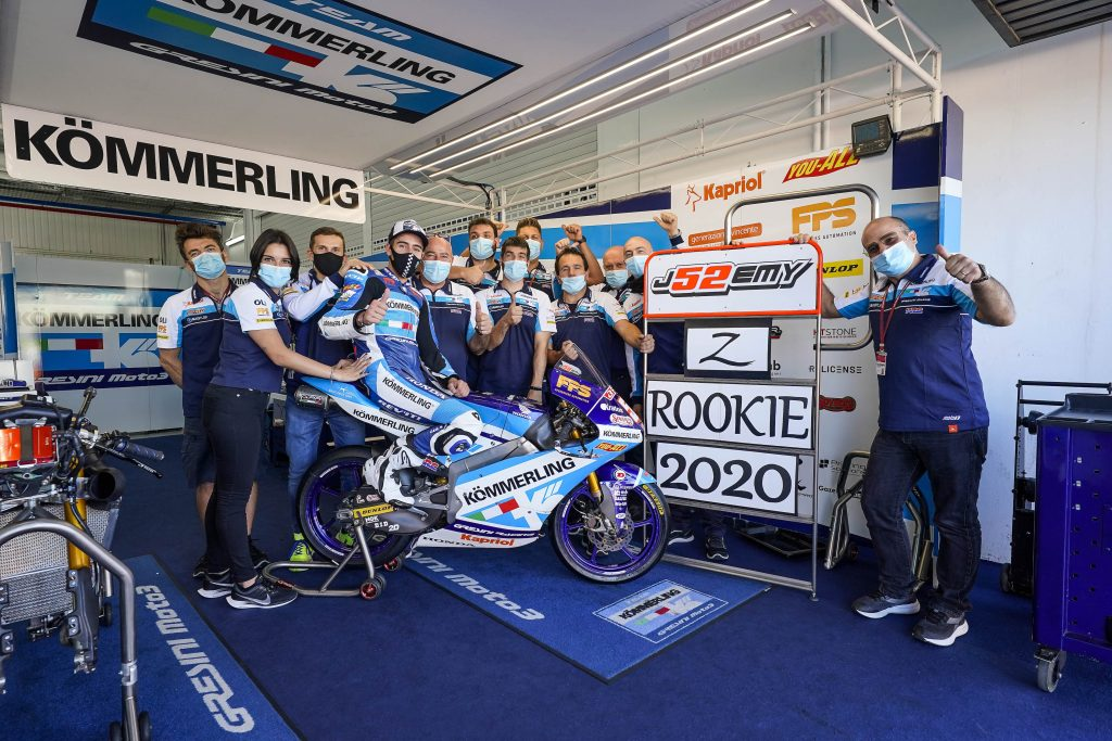 ALCOBA IS TEN OUT OF TEN, HE IS THE 2020 MOTO3 ROOKIE OF THE YEAR    - Gresini Racing