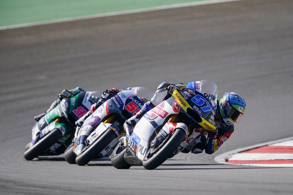 "DISASTER IN MOTO2: BULEGA ""WIPED OUT"" AT THE START, PONS OUT AFTER FOUR LAPS    - Gresini Racing"