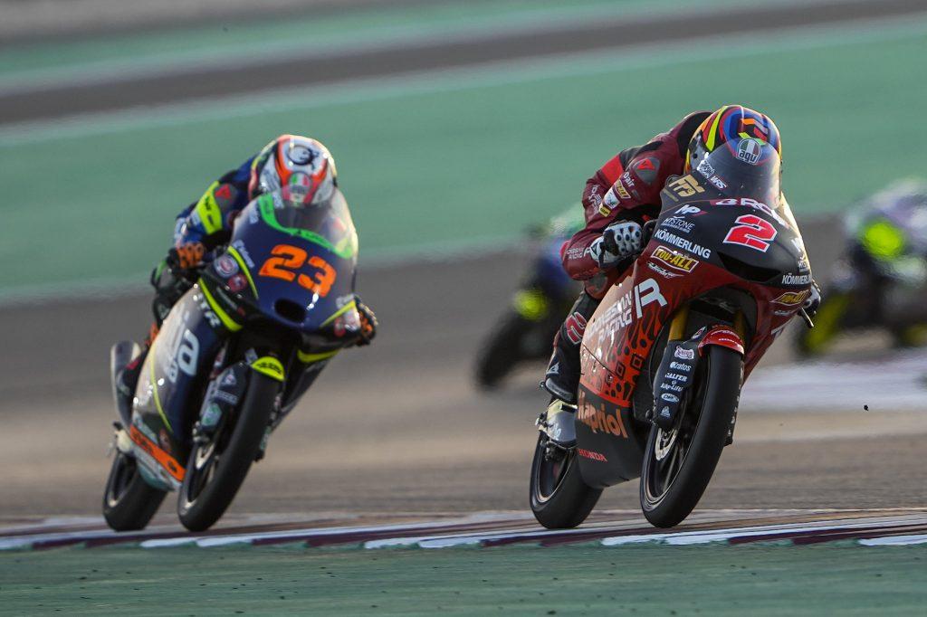 TOP5 RODRIGO A LOSAIL, ALCOBA ABBATTUTO - Gresini Racing