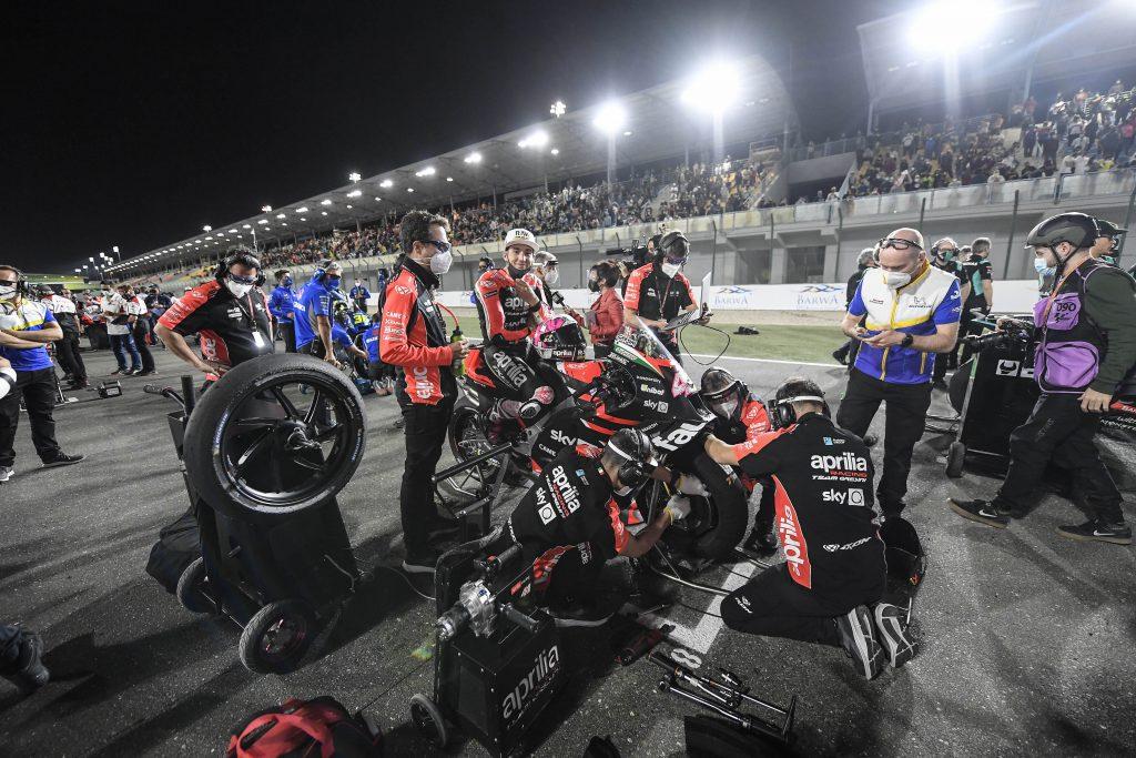 APRILIA SI PREPARA AL SECONDO APPUNTAMENTO IN QATAR - Gresini Racing