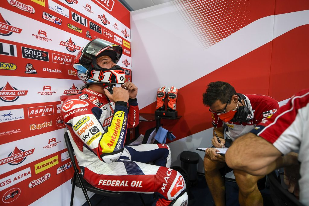 IL TEAM FEDERAL OIL AL LAVORO PER PORTIMAO    - Gresini Racing