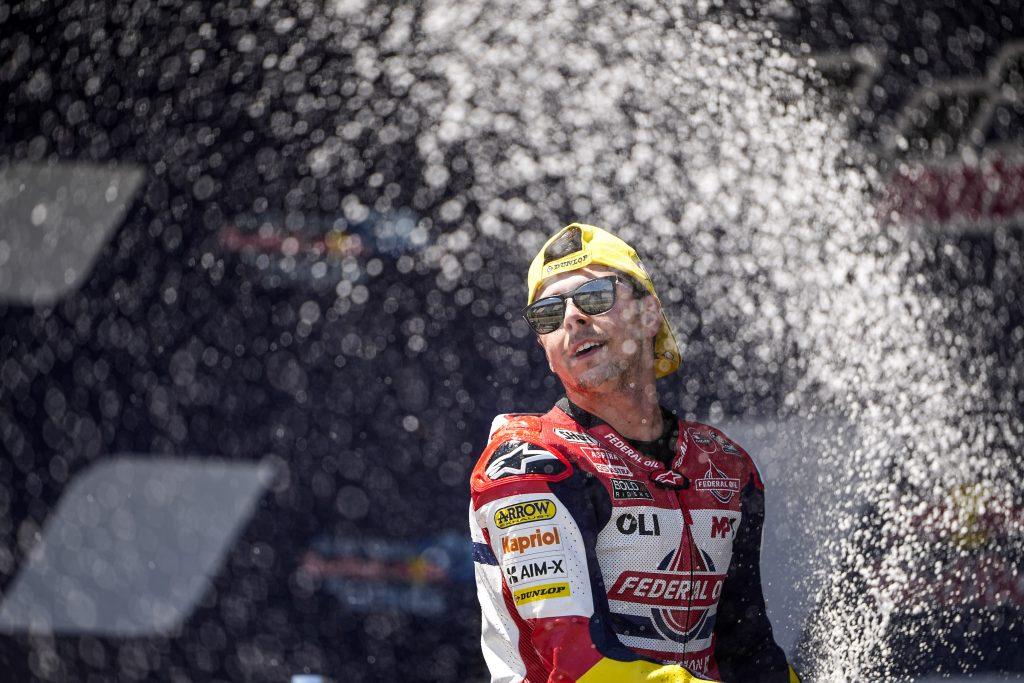 DIGGIA DOMINATES AND TAKES MAIDEN MOTO2 WIN IN #SPANISHGP   - Gresini Racing