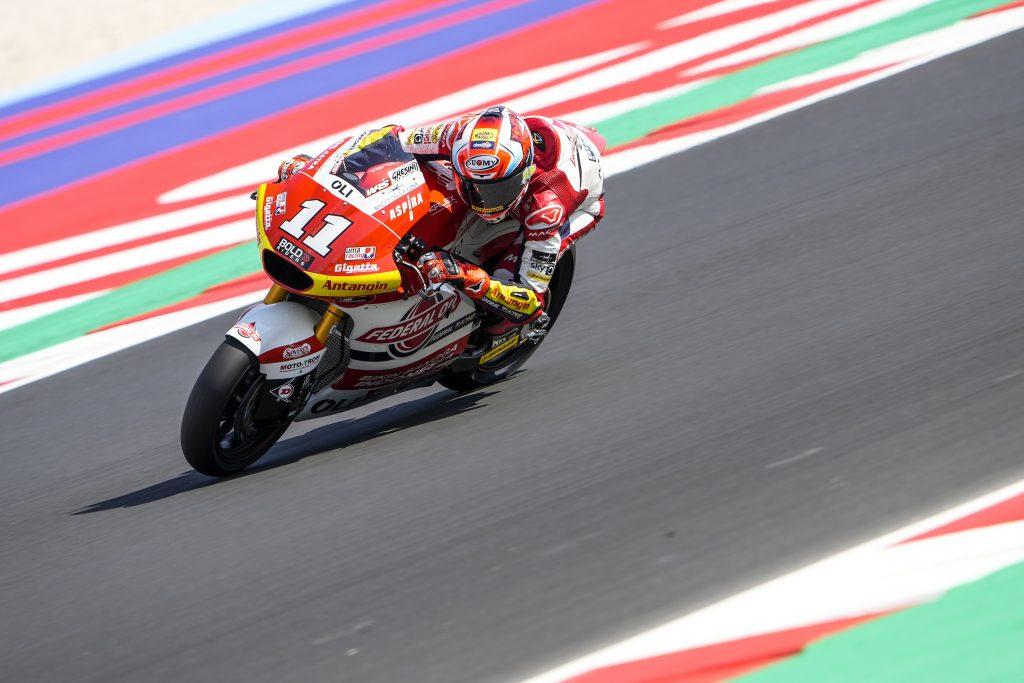 DIGGIA IN TERZA FILA A MISANO, BULEGA SUBITO DIETRO - Gresini Racing
