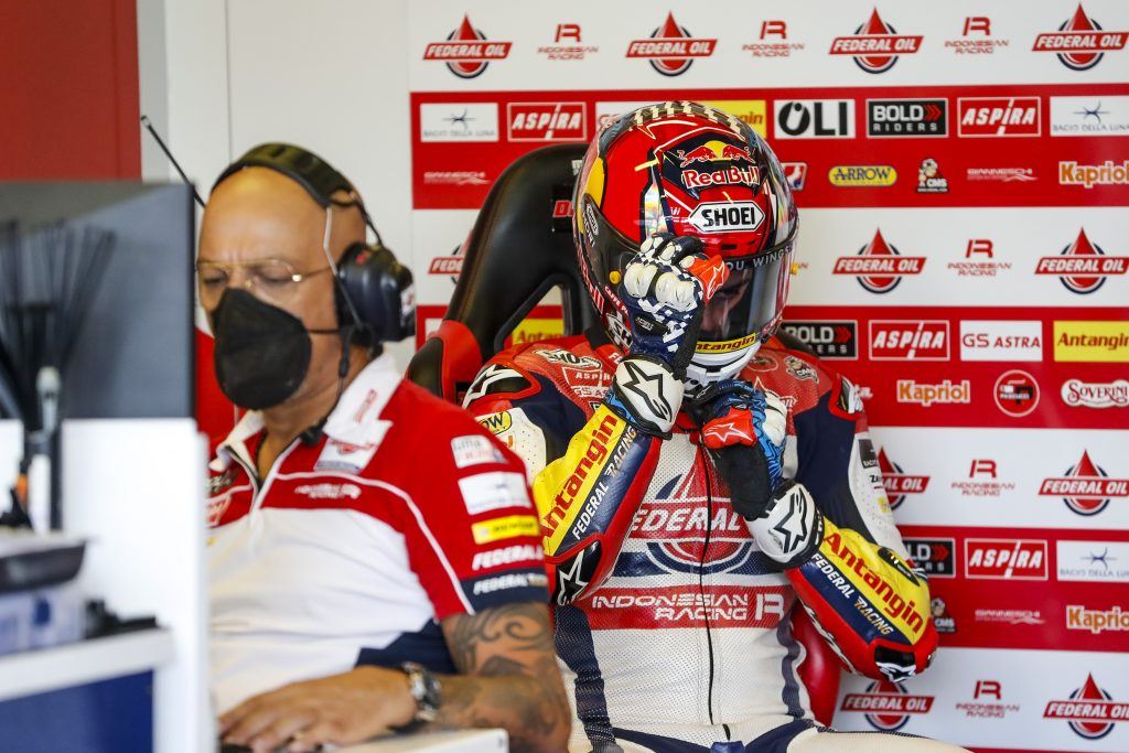 BULEGA BRILLA SUL BAGNATO A MISANO, DIGGIA IN Q2   - Gresini Racing